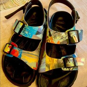 Birki's Birka-Flor Vacation Postcard Sandals